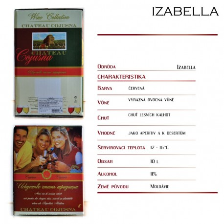 Izabella, čepované víno polosladké